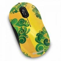 Mouse Maxprint Otico Usb Com Base Brasil Abstrato Ref.: 6010524 - Maxprint