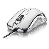 Mouse Multilaser Com Led USB Prateado - MO228 - Multilaser