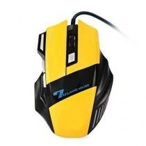 Mouse optico gamer 2400dpi 6 botoes fr-404 amarelo - Importado