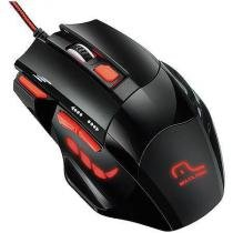 Mouse optico xgamer fire button usb 2400dpi preto e vermelho multilaser mo236 - Multilaser