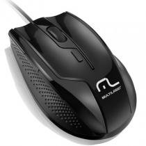 Mouse otico usb multilaser mo164 rapid 1600dpi black piano - Multilaser