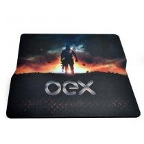 Mouse pad action oex mp300 tecnologia antiskid, base emborrachada antiderrapante -