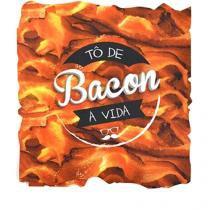 Mouse Pad Bacon Formato - Vermelho - Único - Gorila Clube