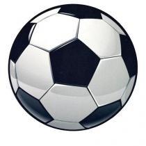 Mouse Pad Bola de Futebol Formato - Preto - Único - Gorila Clube