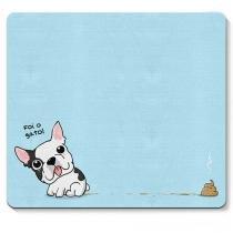Mouse pad Cachorro Cao Bulldog Frances Foi o Gato - Azul - Único - Gorila Clube