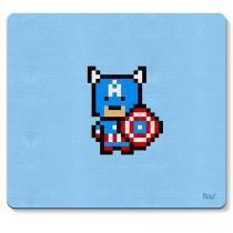 Mouse Pad Capitao America Pixel Marvel - Azul - Único - Gorila Clube