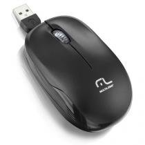 Mouse Retratil Cabo Interno Mini Usb - Multilaser MO197 - Multilaser