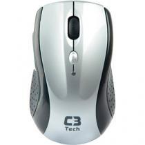 Mouse sem fio 1600dpi m-w012 bsi preto/prata c3 tech - C3 tech