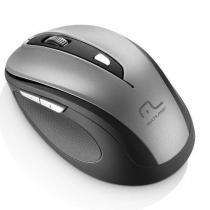 Mouse sem fio 2.4 ghz comfort 6 botoes cinza e preto usb multilaser mo238 - Multilaser