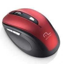 Mouse sem fio 2.4 ghz comfort 6 botoes vermelho e preto usb multilaser mo239 -