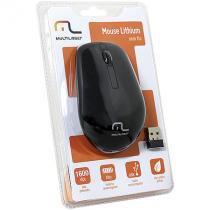 Mouse sem fio 2.4ghz - bateria de litio cabo regarregador preto multilaser mo186 - Multilaser