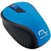 Mouse sem fio 2.4ghz preto e azul usb 1200dpi plug and play multilaser mo215 - Multilaser