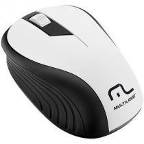 Mouse sem fio 2.4ghz preto e branco usb 1200dpi plug and play multilaser mo216 -