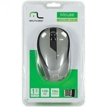 Mouse sem fio 2.4ghz preto grafite usb 1200dpi plug and play multilaser mo213 - Multilaser