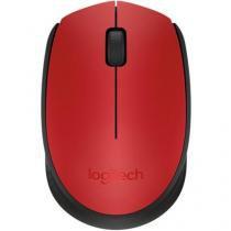 Mouse Sem Fio Logitech M170 Vermelho - 910-004639 - Logitech