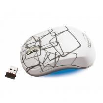 Mouse sem Fio Newlink MO107NL Infinity Branco com Nano USB - Newlink