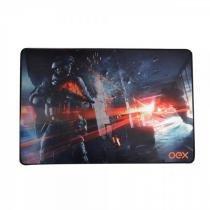 Mousepad Gamer Action Profissional OEX - Tecnologia Antiskid - Mousepad Battle MP301 - OEX