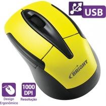 Mouses Optico Usb Canada 1000Dpi 3Botoes Amarelo Bright -