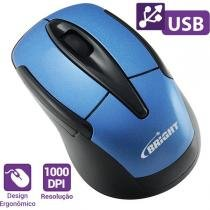 Mouses Optico Usb Canada 1000Dpi 3Botoes Azul Bright -
