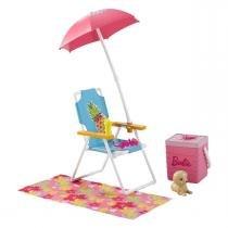 Móveis Básicos com Acessórios Barbie Real Mattel -