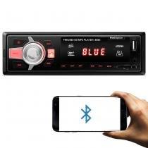 MP3 Player Automotivo Firstoption 8680BS 1 Din Bluetooth USB SD Card AUX P2 FM RCA Carrega Celular - First option