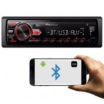 MP3 Player Automotivo Pioneer MVH-298BT 1 Din Bluetooth USB AUX RCA AM FM Interface Smartphone -