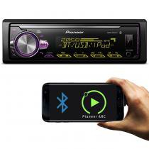 MP3 Player Automotivo Pioneer MVH-X30BR 1 Din USB AUX RCA MP3 AM FM WMA Bluetooth Smartphone Mixtrax -
