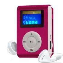 MP3 Player com Entrada SD e Fone de Ouvido Rosa - Gbmax