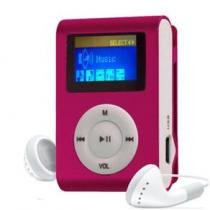 MP3 Player com Entrada SD e Fone de Ouvido Rosa + Mc058 - Gbmax