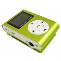 MP3 Player com Entrada SD e Fone de Ouvido Verde - Gbmax