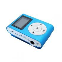 MP3 Player com Visor Entrada SD CARD AZUL - Importado