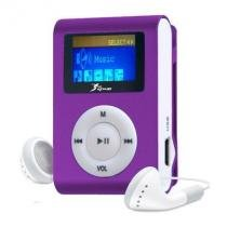 MP3 Player com Visor Entrada SD CARD Roxo - Importado