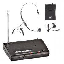 MS115CLI - Microfone s/ Fio Headset e Lapela VHF MS 115 CLI - TSI - TSI