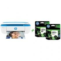 Multifuncional HP DeskJet Ink Advantage 3776 - Jato de Tinta Display LCD + 2 Cartuchos de Tinta