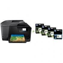 Multifuncional HP Officejet Pro 8710 Jato de Tinta - Colorida Wi-Fi + 4 Cartuchos de Tinta