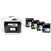 Multifuncional HP Officejet Pro 8720 Jato de Tinta - Colorida Wi-Fi + 4 Cartuchos de Tinta