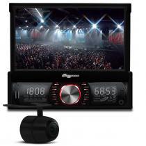 Multimidia Player Auto Quatro Rodas Retrátil 7 USB SD Blue Touch MTC6613 + Câmera de Ré - Quatro Rodas