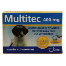 Multitec 400mg Vermífugo Cães c/ 5kg 4 comp  Syntec -
