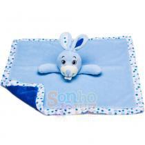 Naninha de Plush Coelhinho Azul - Sonho de Luz - Sonho de Luz