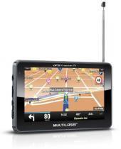 """Navegador GPS com Tela de 4,3"""" e Orientação por Voz, TV Digital e Transmissor FM (GP034) - Multilaser"""