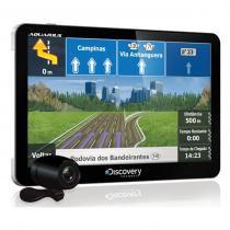 Navegador gps discovery channel 7 polegadas tv digital+câmera ré aquarius -