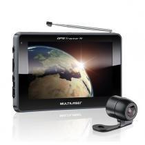 Navegador gps multilaser tela 4.3 pol tracker 3 gp035 câmera de ré e tv digital -