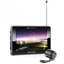 Navegador GPS Multilaser Tracker III GP037 Tela de 5 Câmera de Ré TV Digital - Multilaser