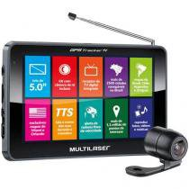 """Navegador GPS Multilaser Tracker III Tela 5.0"""" com Câmera de Ré e TV Digital - GP037 - Neutro - Multilaser"""