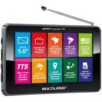 """Navegador GPS Multilaser Tracker III Tela 5.0"""" com TV Digital - GP036 - Neutro - Multilaser"""