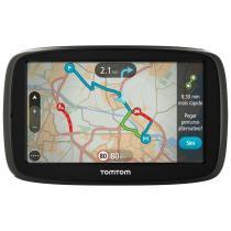 """Navegador GPS TomTom GO 60B com Tela Touch Screen de 6"""" Localização de Radares e Entrada SD - Preto -"""