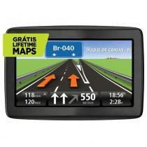 """Navegador GPS TomTom Via 1505 Mapas do Brasil com Tela de 5"""" Localização de Radares e Entrada SD - Preto -"""