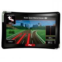"""Navegador GPS TV Digital Tela 7"""" Guia Quatro Rodas Aquarius MTC4761 -"""