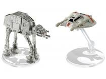 Naves AT-AT vs. Rebel Snowspeeder Hot Weels - Star Wars Mattel 2 Peças