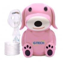 Nebulizador a Ar Comprimido G-Tech NebDog Bivolt Rosa -